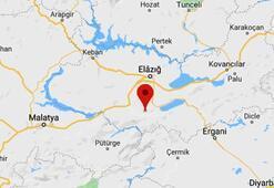 Son dakika   Elazığda bir deprem daha Depremin büyüklüğü...