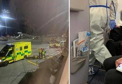 Son dakika | Uçakta koronavirüs paniği... Apar topar indirip götürdüler