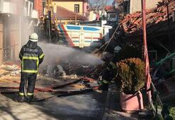 Eskişehirde doğal gaz patladı 1 kişi yaralandı
