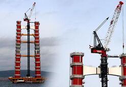 1915 Çanakkale Köprüsü 143 metreye ulaştı 18 Mart 2022de açılacak