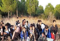 135 kaçak göçmen yakalandı