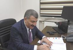 Bakan Koca, Dr. Zekai Tahir Burak Hastanesi'nin başhekimliğini ziyaret etti