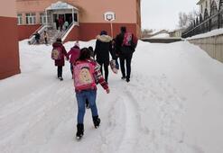 Son dakika... Eğitime kar engeli Okullar tatil edildi