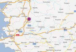Son dakika Manisada korkutan deprem Depremin merkez üssü...