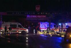 Ekipler olay yerinde Tuzlada askeri alanda büyük yangın