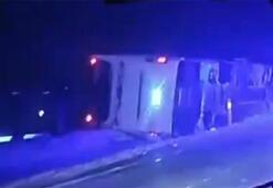Son dakika haberleri | Nevşehirde yolcu otobüsü devrildi Yaralılar var