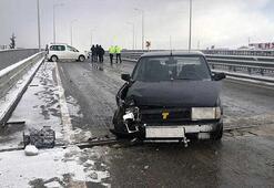 Sakaryada buzlanma nedeniyle 9 araç birbirine girdi