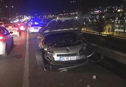 Trafikte terör estirdi 3 yaralı var