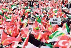 Yenikapı'da Trump'ın planı protesto edildi