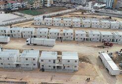 Elazığda konteyner kentlerin kurulumu sürüyor