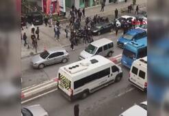 50 liseli birbirine girdi Cadde trafiğe kapandı
