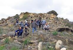 Sazlıköy'de klise  çevresine fidan dikildi