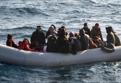 Ayvalıkta 42 göçmen yakalandı