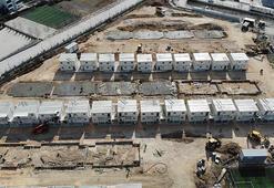 Çift katlı konteyner kent 5 gün sonra bitecek, 456 depremzede aile yerleşecek