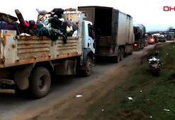 Son dakika haberi... Suriyeliler İdlibden kaçıyorlar İşte o görüntüler...