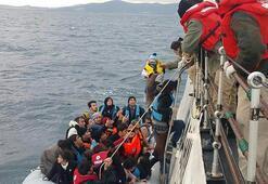 Balıkesirde 11 düzensiz göçmen ile 2 organizatör yakalandı