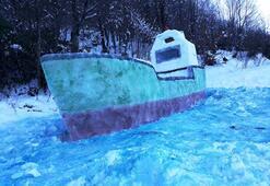 Bu gemi kardan Hayran bıraktı