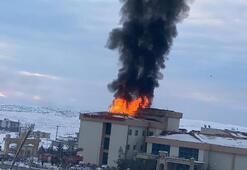 İdilde hastanede yangın çıktı
