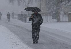 Sivasta yoğun kar yağışı
