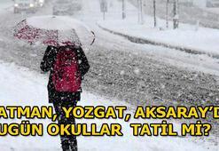 Batman, Yozgat ve Aksarayda okullar tatil edildi mi 13 Şubat Valilikten kar tatili açıklaması geldi mi
