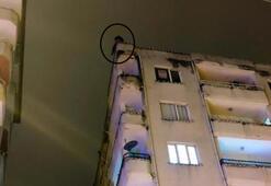 8 katlı apartmandan atlayacaktı Emniyet müdürü vazgeçirdi