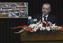 Cumhurbaşkanı Erdoğandan Pakistanda son dakika açıklamaları Konuşurken masalara vurdular