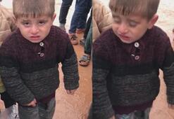 Bu görüntü herkesin yüreğini burkmuştu O çocuğa yardım eli uzandı