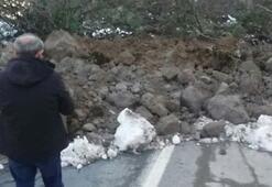 Ayder yolunda heyelan Yol trafiğe kapandı