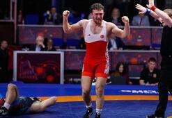 Avrupa Güreş Şampiyonasında Süleyman Karadenizden altın madalya