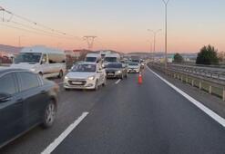 Tuzla TEM Otoyolunda zincirleme kaza trafiğe neden oldu