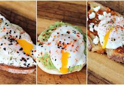 3 dakikada poşe yumurtalı kahvaltılık tarifler - Çılbırlı, avokadolu, muhammaralı poşe yumurta