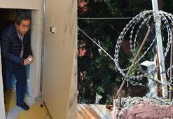 Suriyeliler, kaçak hastaneyi dikenli çitlerle çevirmiş