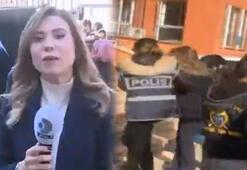 Taciz iddiası için gittiği okulda Kanal D muhabirine gözaltı