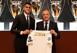 Real Madrid, yeni transferi Reinieri basına tanıttı
