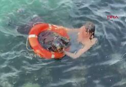 Üsküdarda denize düşen kadın böyle kurtarıldı