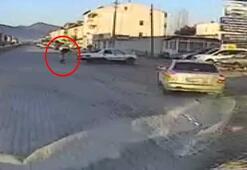 Makas atarak gidiyordu Kaza yapınca otomobilden fırladı