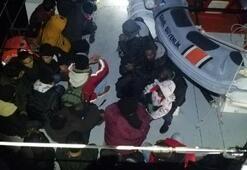 Bodrumda lastik botta 33 kaçak göçmen yakalandı
