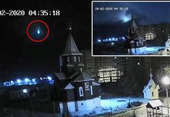 Rusyada meteor düşme anı kamerada
