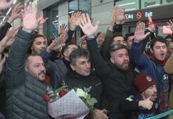 Trabzonspora İstanbulda coşkulu karşılama
