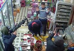 Markette maskeli, silahlı soygun, güvenlik kamerasında