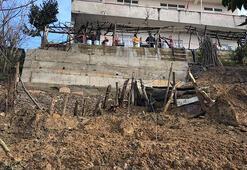 Zonguldakta, 9 kişinin oturduğu binaya heyelan tahliyesi