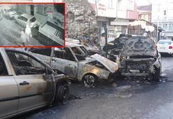 Fatihte otomobilleri kundaklayan şüphelilerden 2si yakalandı