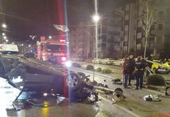 Ticari taksi ile otomobil çarpıştı Ölü ve yaralılar var