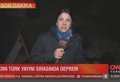 CNN TÜRK muhabiri canlı yayında depreme yakalandı
