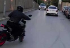 """İstanbul'da """"drift"""", """"makas"""" ve """"tek teker"""" terörleri kamerada"""