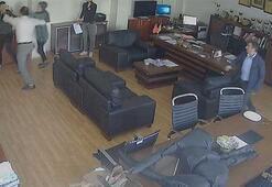 Müdür odasında öğrenciye saldırı kamerada