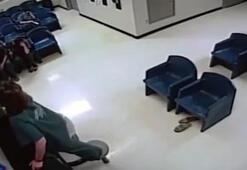 Kadın mahkum havalandırma borusundan böyle kaçmaya çalıştı