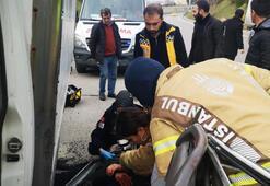 Üsküdar TEM Bağlantı yolunda kamyonet TIRa arkadan çarptı