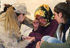 Kadın komutanlardan depremzedelere yardım
