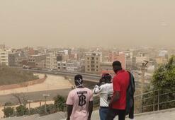 Senegal, toz ve kum bulutu altında